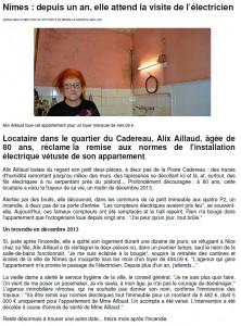 Article Midi Libre du 7 janvier 2015
