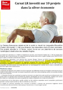 La Tribune Carsat Languedoc Roussillon DOMOSEO Nimes Montpellier Beziers domotique electrique domoticien electricien senior personne agee maintien domicile