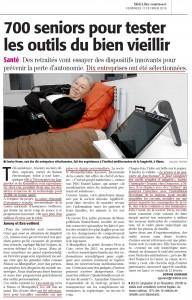 Midi Libre Article Carsat LR 2016 02 12 Domoseo Domotique Senior Personne agee Nimes Montpellier Beziers electrcite electricien domoticien